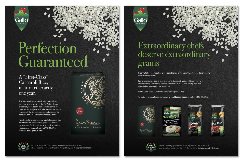 Riso Gallo UK print ads