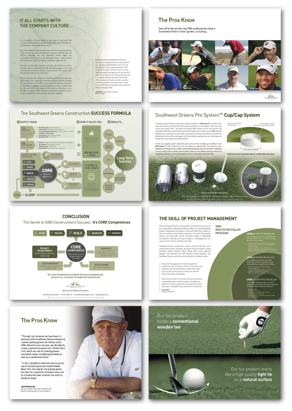 Southwest Greens Construction - Print Collateral